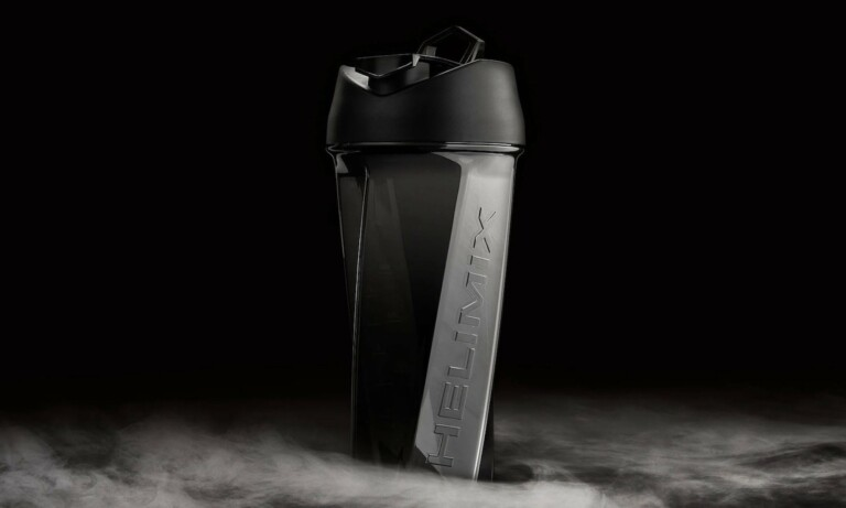This blender bottle's hexagonal shape creates its own vortex to mix your ingredients