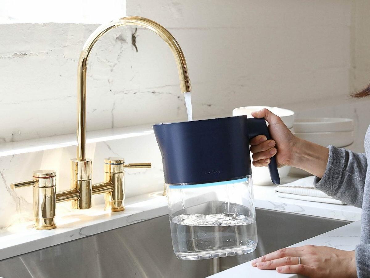 LARQ Pitcher PureVis water filter jug eradicates contaminants for pure-tasting water