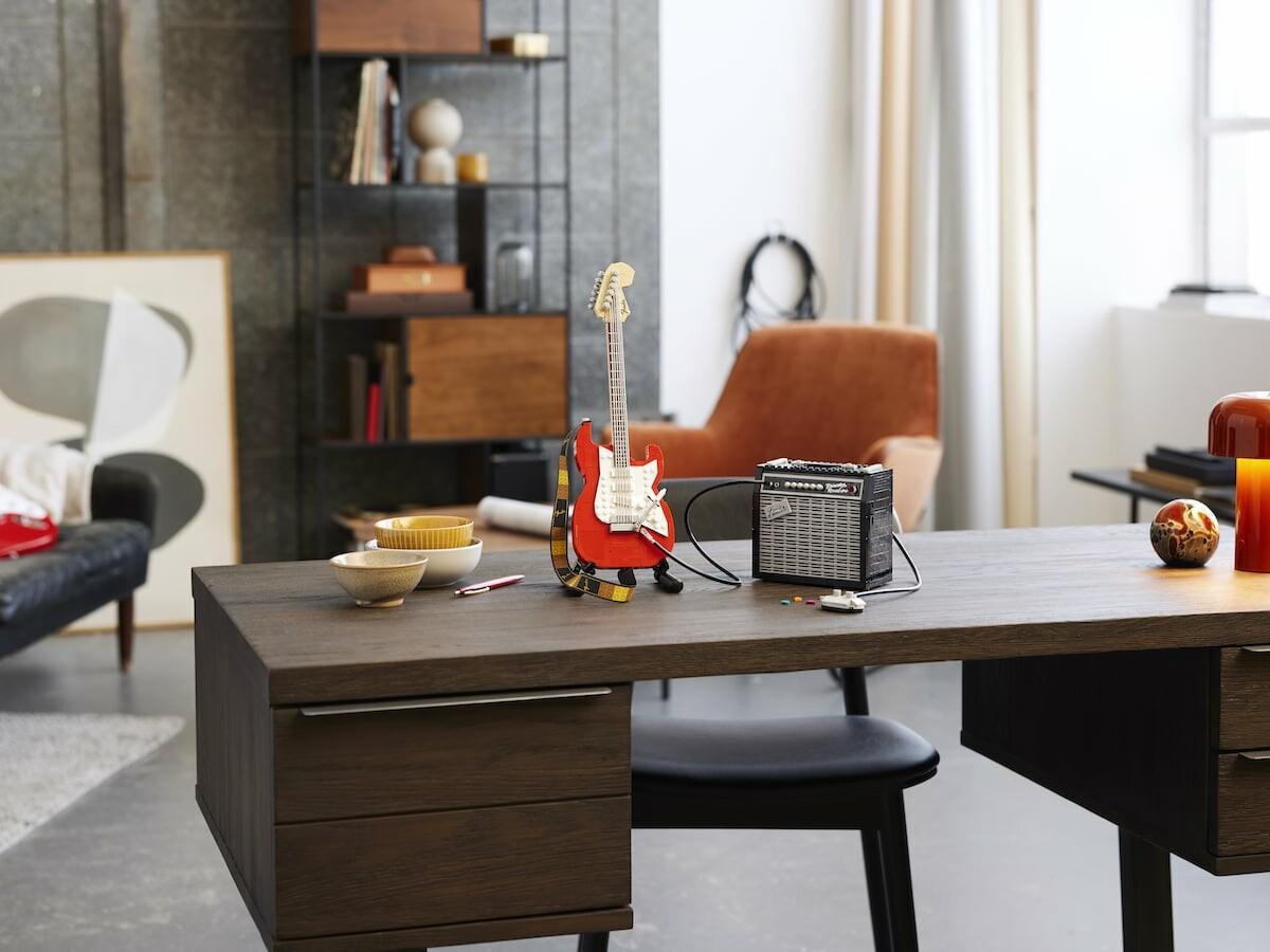 LEGO Ideas Fender Stratocaster building set lets you recreate a Fender Strat guitar