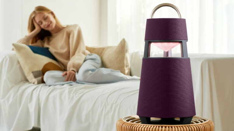 LG XBOOM 360 wireless speaker delivers omnidirectional audio and doubles as a lantern
