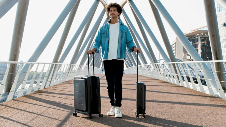 LITO foldable suitcase comes in 2 sizes that save up to 2.5 times more storage space