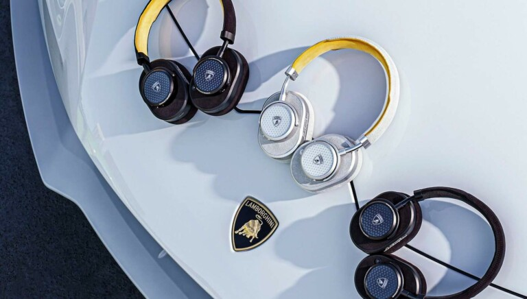 Master & Dynamic x Automobili Lamborghini MW65 ANC headphones have a sports car design