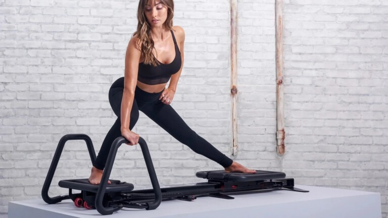 Work out anywhere with ease using this Lagree fitness equipment
