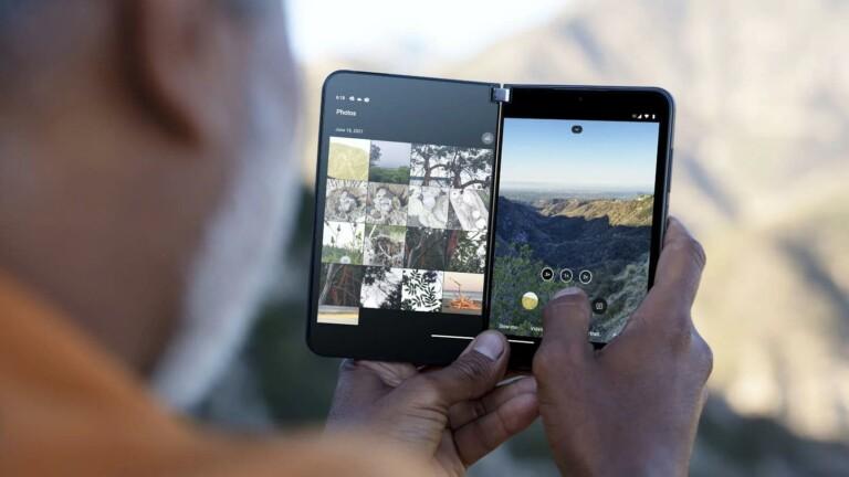 Microsoft Surface Duo 2 5G dual-screen smartphone has a dynamic triple lens camera