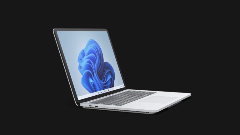 Microsoft Surface Laptop Studio seamlessly transforms between laptop and tablet modes