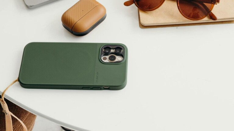 Moment Case for iPhone 13 has a soft-to-the-touch texture and is compatible with MagSafe