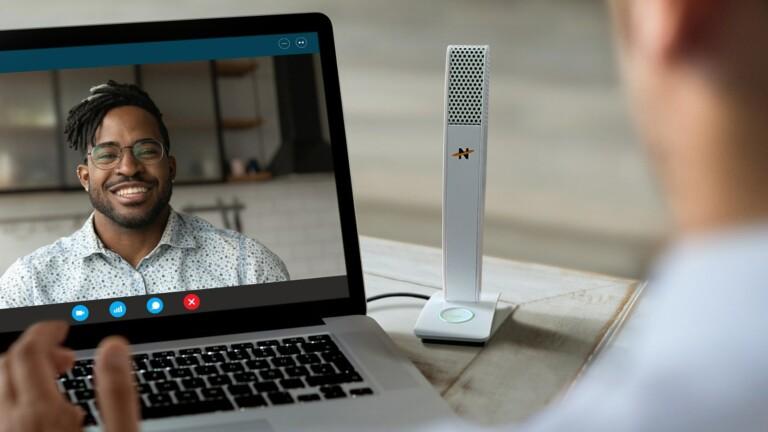Skyline desktop microphone delivers high-quality 96 kHz digital audio for videoconferences