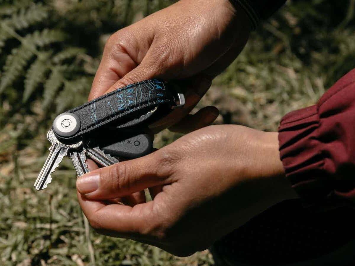Orbitkey National Geographic Key Organizer uses eco-friendly Desserto cactus leather