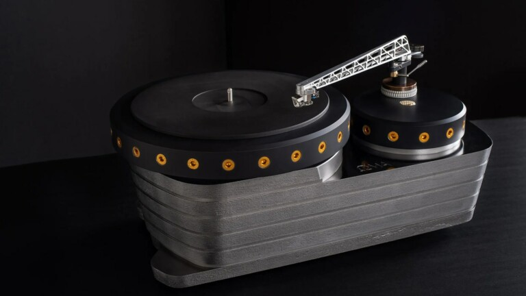 Oswalds Mill Audio K3 Cast Iron Turntable features a powerful motor and durable chassis