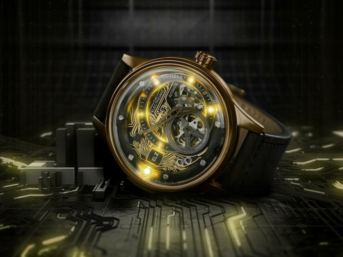 The Electricianz Hybrid Mechanical Time Display Series has enhanced mechanical movements