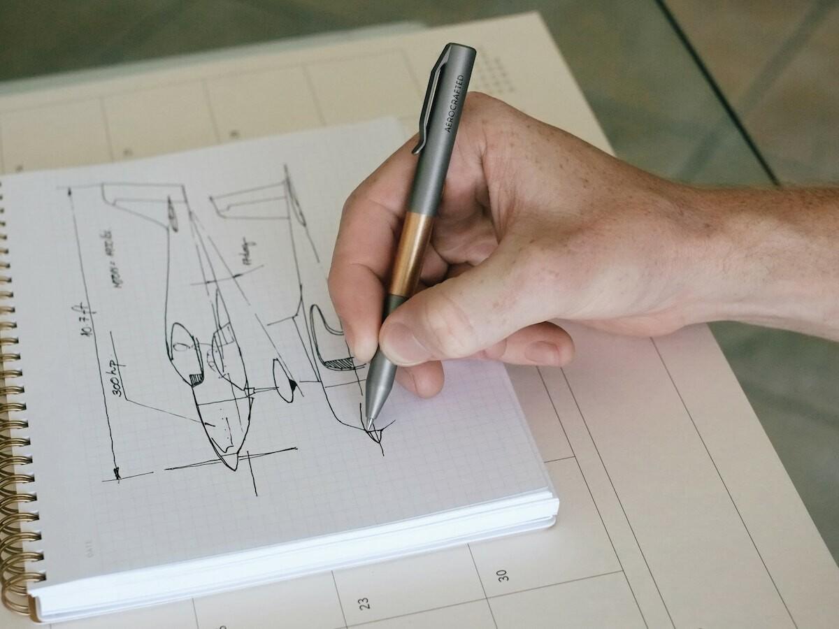 Vector Titanium Compact EDC Pen stores discreetly yet offers full-size ergonomic use