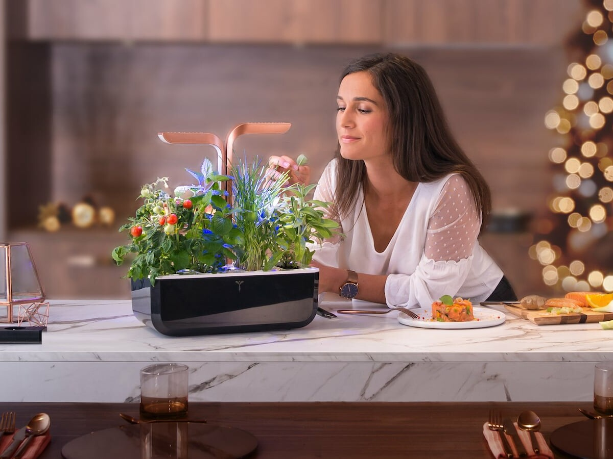 Véritable Smart Indoor Garden uses LED technology to automatically adjust its light