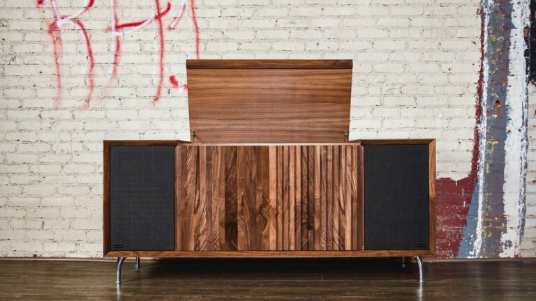 Wrensilva M1 wooden record console boasts of hand-selected woods and impressive sound