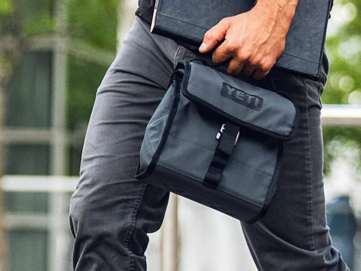 YETI Daytrip Lunch Bag keeps food and drink cold for hours and has an adjustable size
