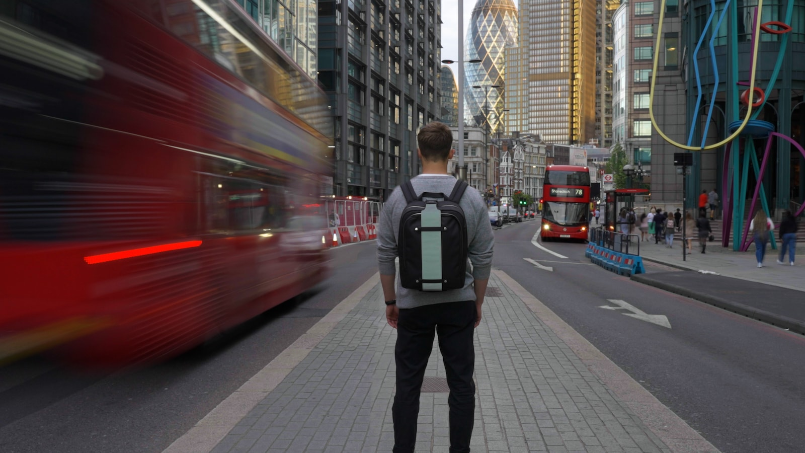 lab.inc Backpack sustainable bag has interchangeable straps & uses upcycled ocean plastic