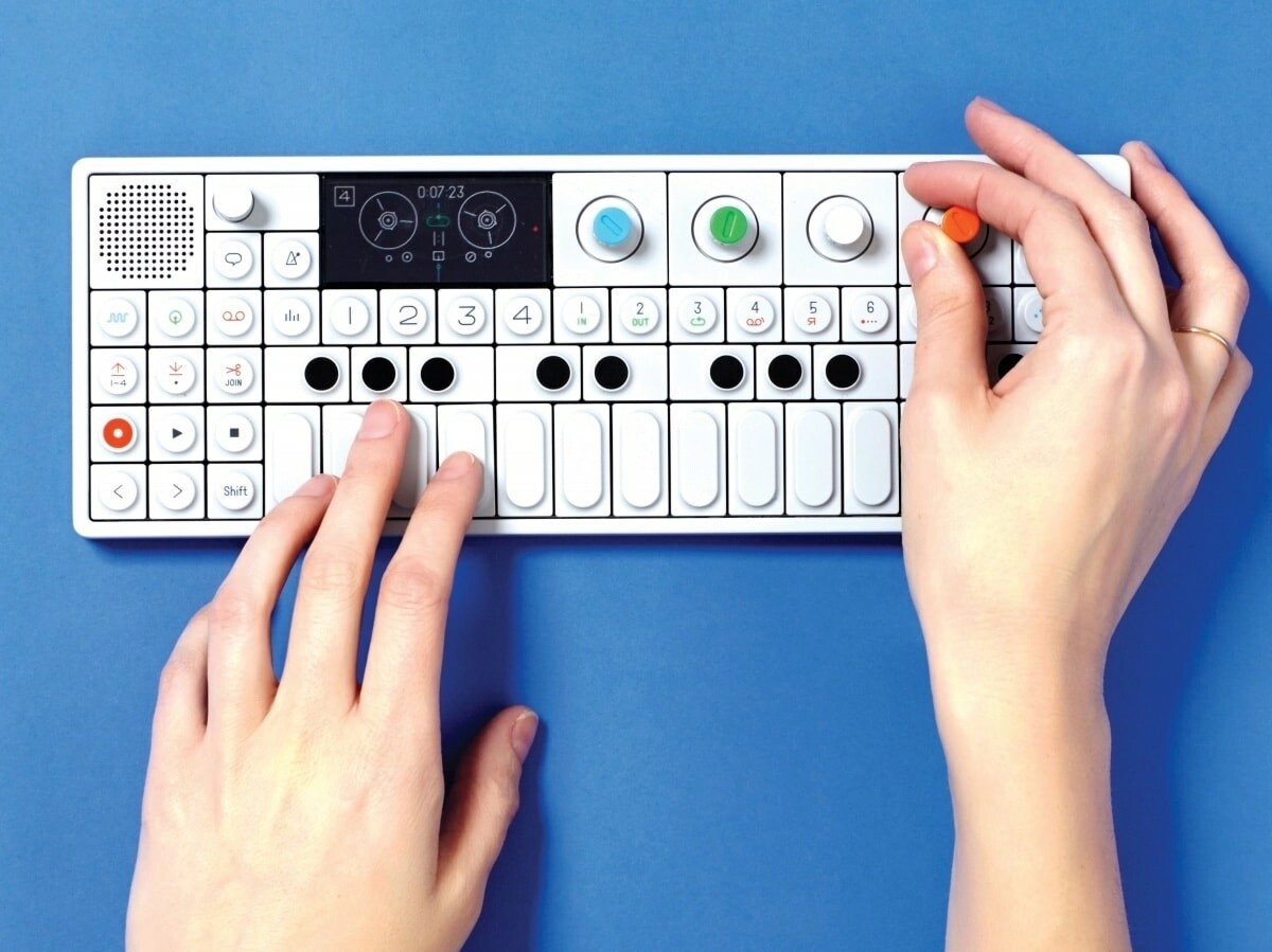 teenage engineering OP-1 all-in-one portable synthesizer includes a sampler and controller