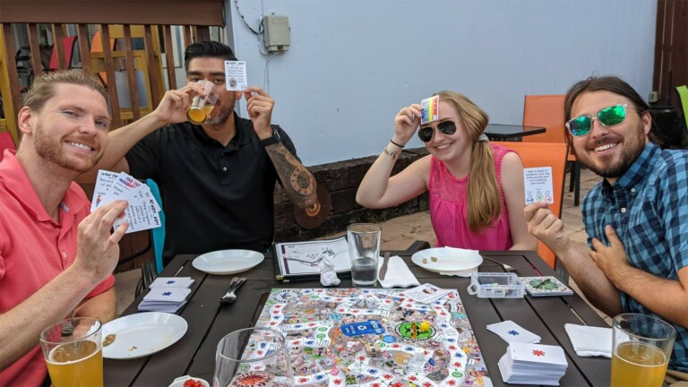 2020: The Best Year Ever (The Game) post-pandemic party game has fluid rules & fun facts