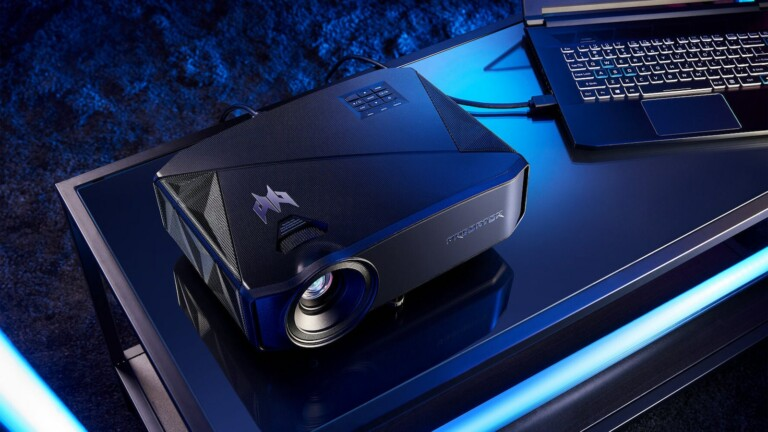 Acer PREDATOR GM712 4K projector supports a refresh rate up to 240 Hz and a 4K UHD display
