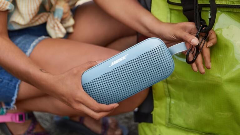 Bose Soundlink Flex Bluetooth speaker has a portable design and Bose PositionIQ technology