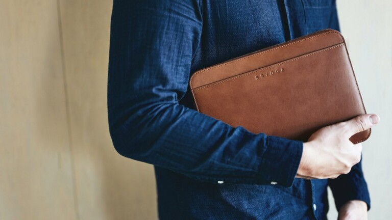 Brydge Leather Organizers for iPads and MacBooks offer a storage and protection solution
