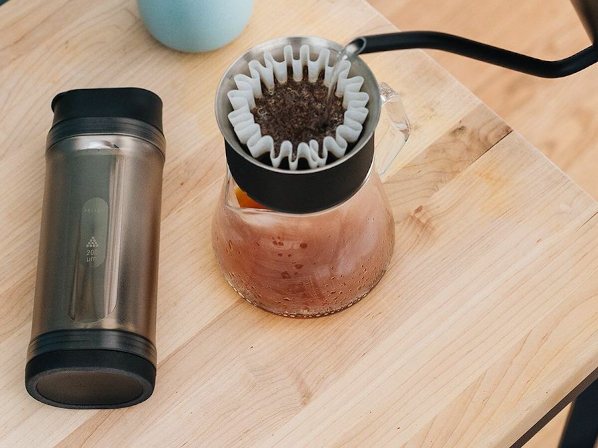 Fellow Shimmy Coffee Sieve removes microfines under 200 microns for improved flavor