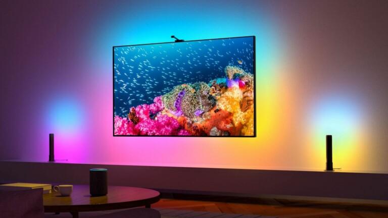 Govee Immersion Kit Smart Wi-Fi TV Backlight + Light Bars have a 1,080p HD smart camera