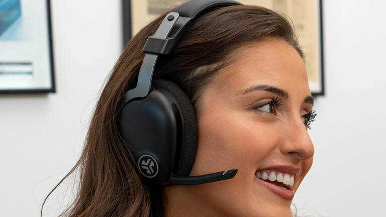 JLab JBuds Work wireless over-ear headset gives you 60+ hours of Bluetooth playtime