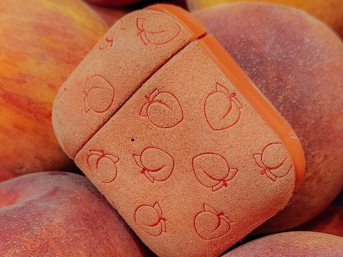 Moment Peachy Pods for AirPods feature a polycarbonate shell and microfiber finish