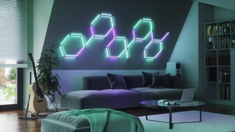 Nanoleaf Lines backlit smart light bars transform your space with colored light shows