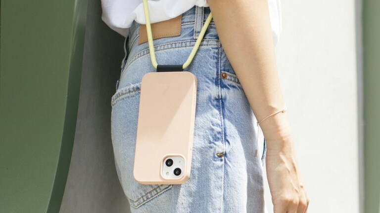 Native Union CLIC Pop case for iPhone 13 Series attaches to your neck for easy carrying