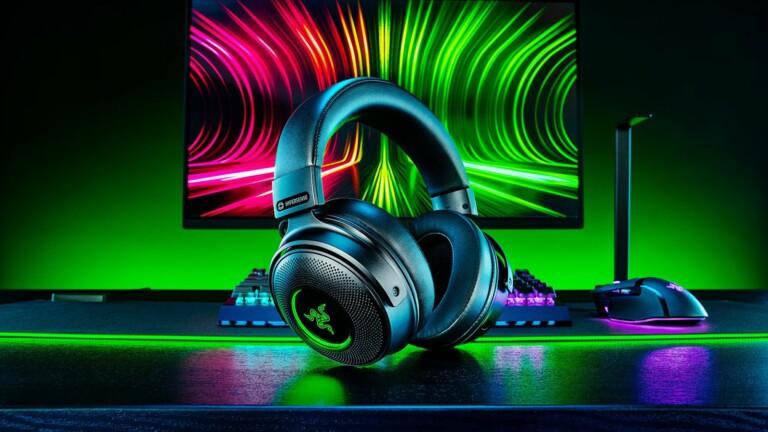 Razer Kraken V3 Pro wireless gaming headset features cutting-edge haptic drivers