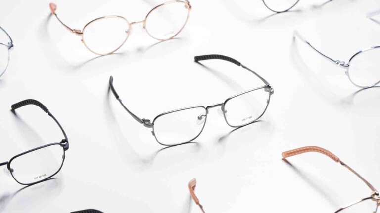 SUMS comfortable eyewear collection has air-filled nose pads to keep weight off your nose