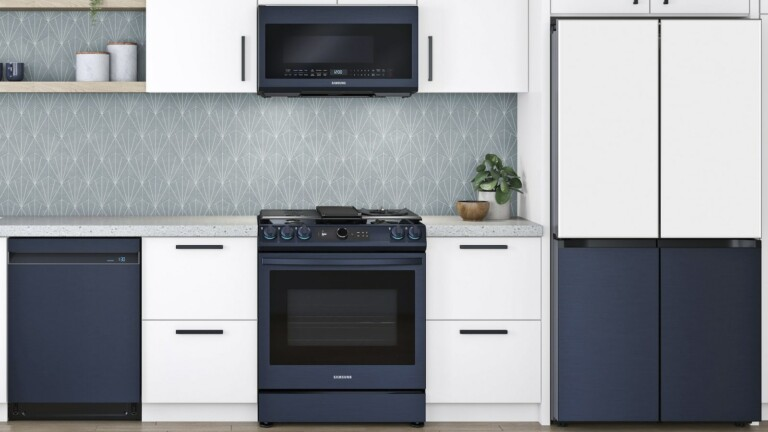 Samsung Bespoke Slide-In Gas and Electric Ranges are compatible with Alexa, Google, & Bixby