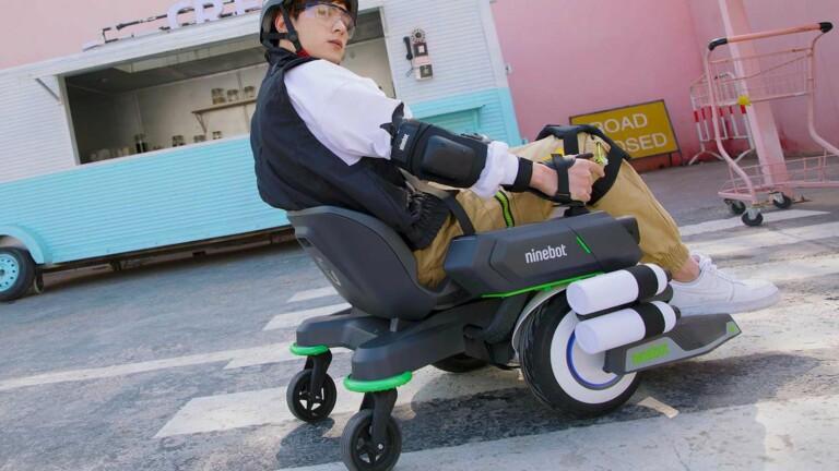 Segway Ninebot Mecha Kit turret transforms Ninebot scooters into bullet-blasting machines