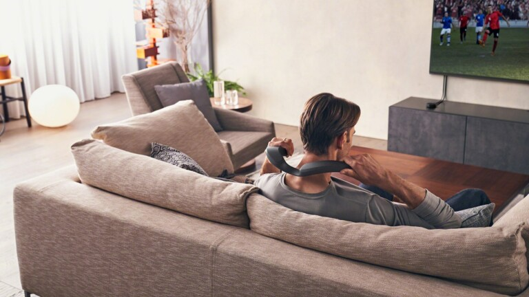 Sony SRS-NS7 wireless neckband speaker allows you to enjoy personalized home theater audio